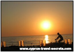 sunset cycling in cyprus