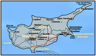 air travel to cyprus map