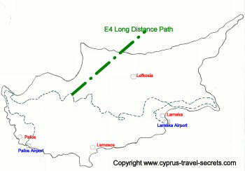 e4 route map cyprus
