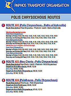 polis bus timetable