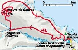 aphrodite trail map