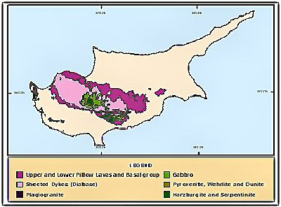 Cyprus geographical map
