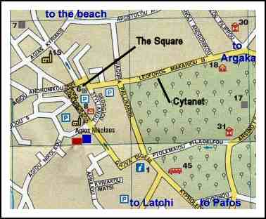 Map of Polis centre
