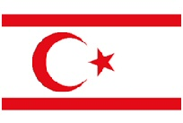 TRNC flag of cyprus
