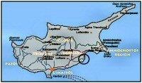 Map showing Larnaca airport