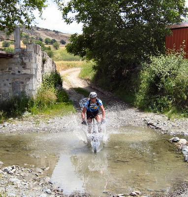 making a splash on a bike!