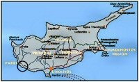 Map Paphos Airport Cyprus